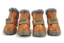 Leather Dog Waterproof Boots