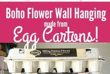 závěs z kytek z plata na vajíčka