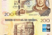 Billets Bolivie / Le boliviano est le nom de la monnaie Bolivienne et les billets de banque en circulation sont : 10, 20, 50, 100 et 200 bolivianos. Les bolivianos s'échangent très difficilement hors du pays.