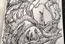Sketches (bio) / Foliage  & nature sketches