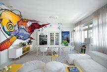 Casas e Decoração (Moderna) / decorações coloridas!