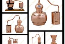 Copper Alembic Stills / Handmade Portuguese copper alembic stills. Solid copper alembic distilling systems & moonshine distiller stills