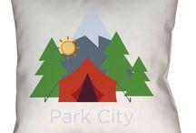 Park City, Utah Throw Pillows