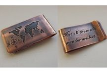 Money Clips / Unique, handcrafted money clips, great gifts for men. Ready to buy or customise any piece for the personal touch.