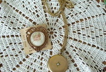 Victorian Gold Filled Seed Pearl Photo Locket, and Picture Brooch 1800's