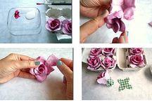 růže z obalu na vajíčka