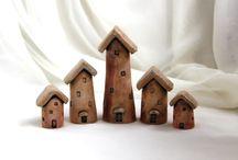 keramické domečky