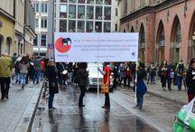 Internationaler Marsch für Elefanten - 04. Oktober 2013, München / Am Freitag, dem 04. Oktober 2013, haben sich Tausende Menschen in 15 Städten auf der ganzen Welt zu einem Marsch in Solidarität mit den Elefanten zusammengefunden, so auch in München.