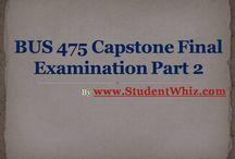 Bus 475 Capstone Final Exam