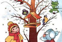 Zima ptackove