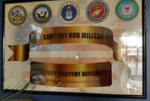 We support the men & women in our military! / Stop in to find out more information