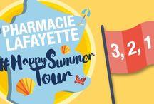 Challenge de l'été 2016 / Attention, le #PharmacieLafayetteHappySummerTour arrive sur les réseaux sociaux !