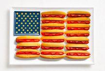 Flag Food / Bandeiras de países representadas por pratos tradicionais