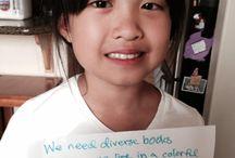 #WeNeedDiverseBooks because... / #WeNeedDiverseBooks --> http://weneeddiversebooks.org/