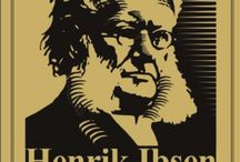 Henrik Ibsen stylized illustrations campaign
