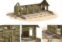 Canadian frame wood house