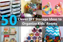 clever storage ideas / by Heather Pardo