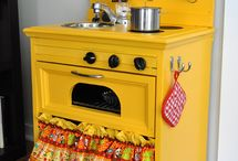 DIY play kitchen inspiration