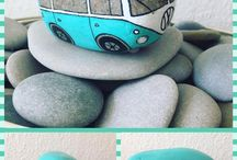 Transportation - painted rocks