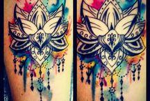 Tatuagem Flor De Lotus Aquarela