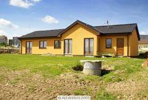 Nízkoenergetické a pasivní dřevostavby / Fotografie dřevostaveb mezi které se řadí montované domy.