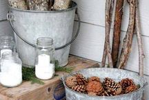 Farmhouse porch christmas decorations