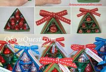 árvore de Natal com Bombons