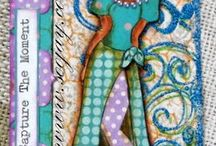 Prima marketing inc. Julie Nutting / Art work using Julie Nutting stamps. / by Trina St Michael