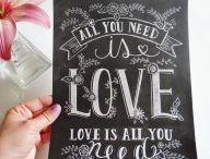 Hand Lettered Chalkboard Prints/ Láminas Efecto Pizarra / by Mr. Wonderful Shop