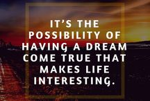 Dreams Quotes / Quotes on the power of dreams, what they are, what they mean for us, and what we should do in order to live them out fully in our life!