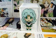 Anime Cross Stitch Vorlagen / Stickmotive / Anime Cross Stitch Stickmotive, Vorlagen, Pattern, DIY