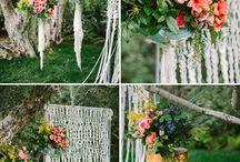свадебный декор макраме