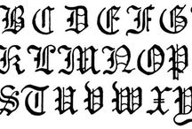 Gothic, Fraktur Lettering - Calligraphy