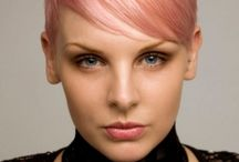 Pastel pink hair / Fab hairstyles and great colour work.
