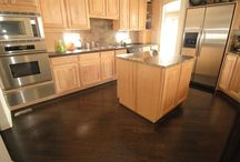 Kitchen floors/table/cabinets