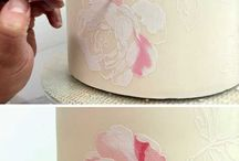 airbrush and painting to cake