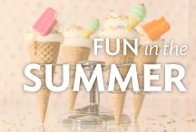 Fun in the Summer / Summertime is when families and friends get together for BBQs, holidays, birthdays, picnics and more. Find cake, cupcake and other treat ideas so you can bring a summer-themed dessert to every gathering.
