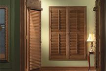 Shutters / Shutters: Classic look of shutters added to their great insulation properties, simply makes them a perfect dressing for windows in any area of your home or office. If you are looking for a rich look full of warmth, shutter will just meet your expectations. Available in polysatin, composite or real wood with various options to suit your style and taste. http://www.windowinspirations.ca/