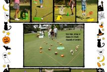 Halloween and My mini Golf! / Just the beginning of fun .  . .  Decorations from discount stores with My mini Golf add another fun activity during the fall!