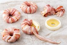 Bacon wrapped pineapple rings
