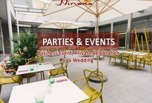 PARTIES & EVENTS / Restaurant Nirvana offers parties & event services including business event, private celebration or a wedding.