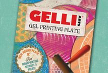 Gelli Plate with block printing