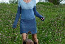 sukienki-dzianinowe dla małych i dużych kobietek-Knitted dresses for big and small women