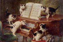Carl Reichert Cat Art