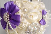 satin flower bouquets