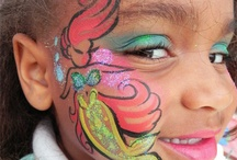 Crafts, face paint and work.