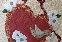 vintage valentine quilt