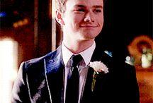 Kurt Hummel and Rachel Berry-Glee, Glee Concerts, behind the scenes etc. / Chris Colfer as Kurt Hummel and Lea Michele as Rachel Berry
