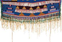 Traditional Dresses 1 / heavily beaded yokes of womens' traditional dress / by Joanne Bigcrane