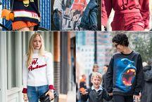 Sweater Kombis / Die schönsten Sweater und wie internationale Streetstyle-Stars sie kombinieren: Print-Sweater, Designer Sweatshirts mit Message oder aus Strick - hier herrscht Sweater-Liebe